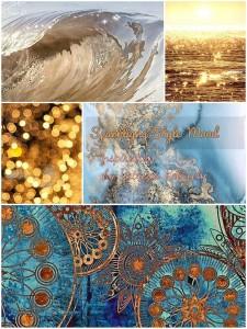 collage di immagini luminose per creare il mood sparkling style