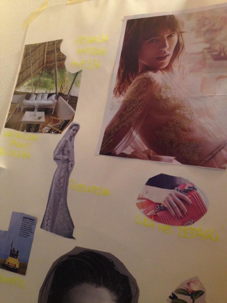 mood di immagini per visual identity
