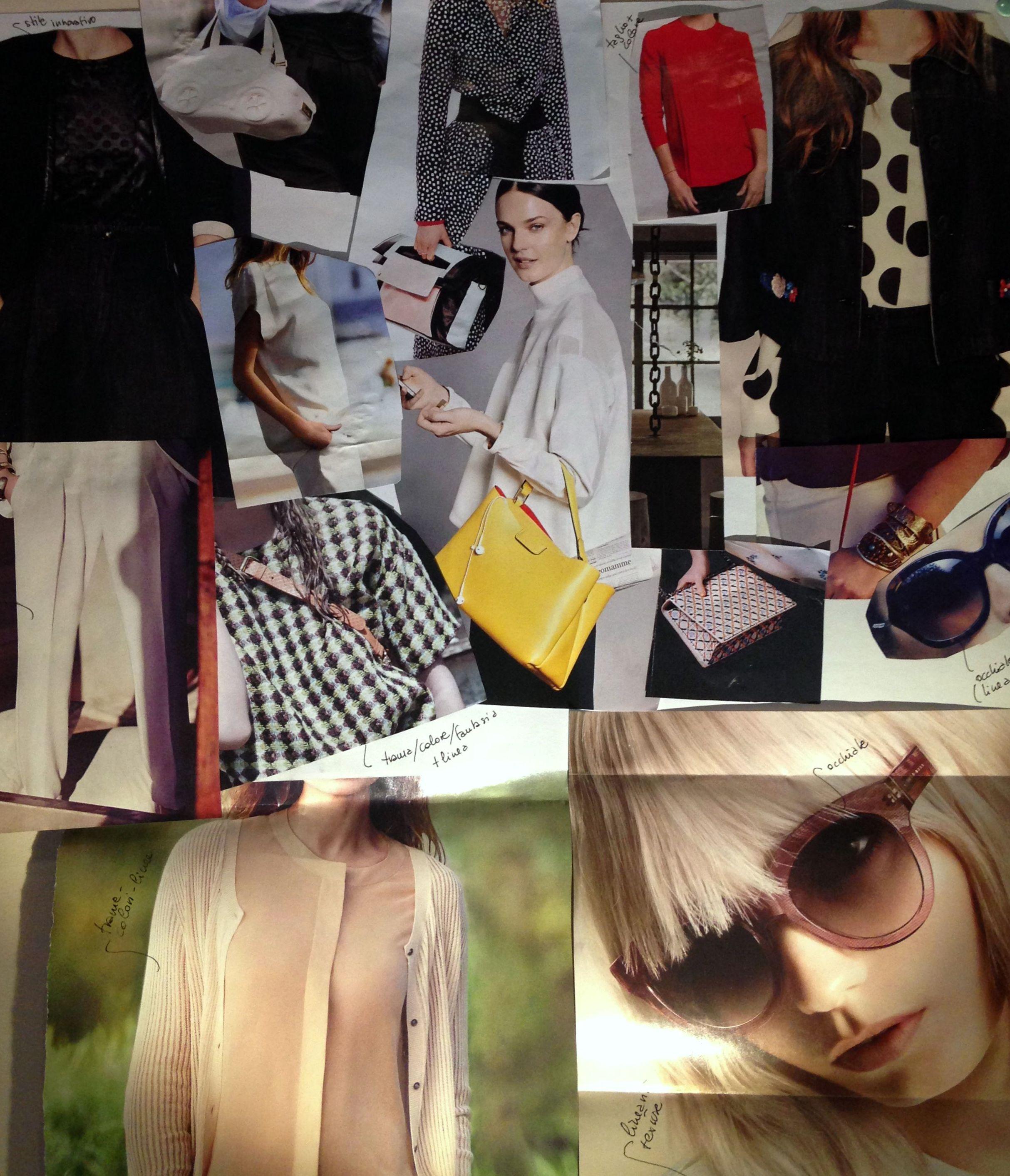 collage di immagini per lo stile lavorativo di Cinzia